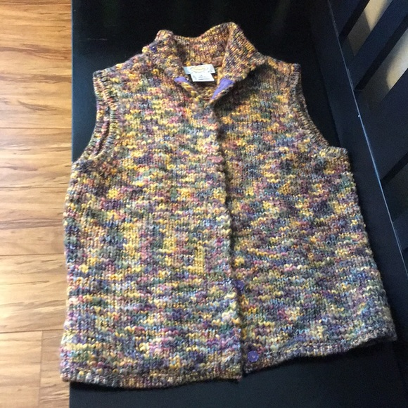 Talbots Jackets & Blazers - Talbots Multicolored Knit Vest
